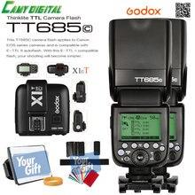 Godox TTL II Автовспышка GN60 HSS 1/8000 s 2.4 Г Беспроводной 2 ШТ. * Speedlite TT685C + X1T-C/TT685N + X1T-N/TT685S + X1T-S + SoftBox + Цветной Фильтр