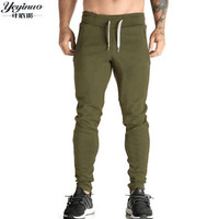YEYINUO Brand Men Cotton Pure Color No LOGO Casual Pants Slim Fit Mens Jogging Trousers Professional