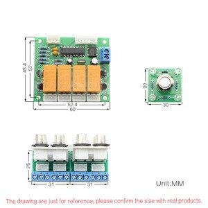 Image 5 - Lusya przycisk przełączania przekaźnika 4 way wejściowy sygnał Audio przełącznik RCA przełącznik Audio wybór wejścia gotowa płyta B7 003