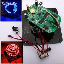 Ball POV Spherical Rotary LED Kit 56 Lamp POV Rotating Clock Parts DIY