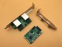 MINI PCI-E zu Gigabit Ethernet Netzwerkkarte Dual Port 10/100/1000 Mbps Verdrahtete RJ45 Netzwerk Adapter NIC karte