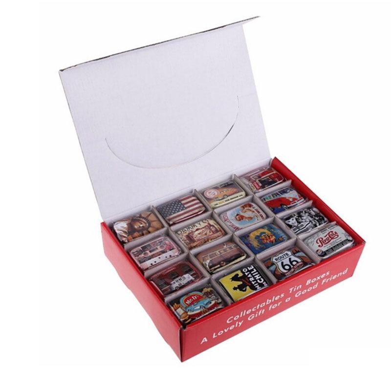 Organizer Pill-Case Storage-Box Tins Metal Zakka Vintage Small Aibei-American-Style Box1pc