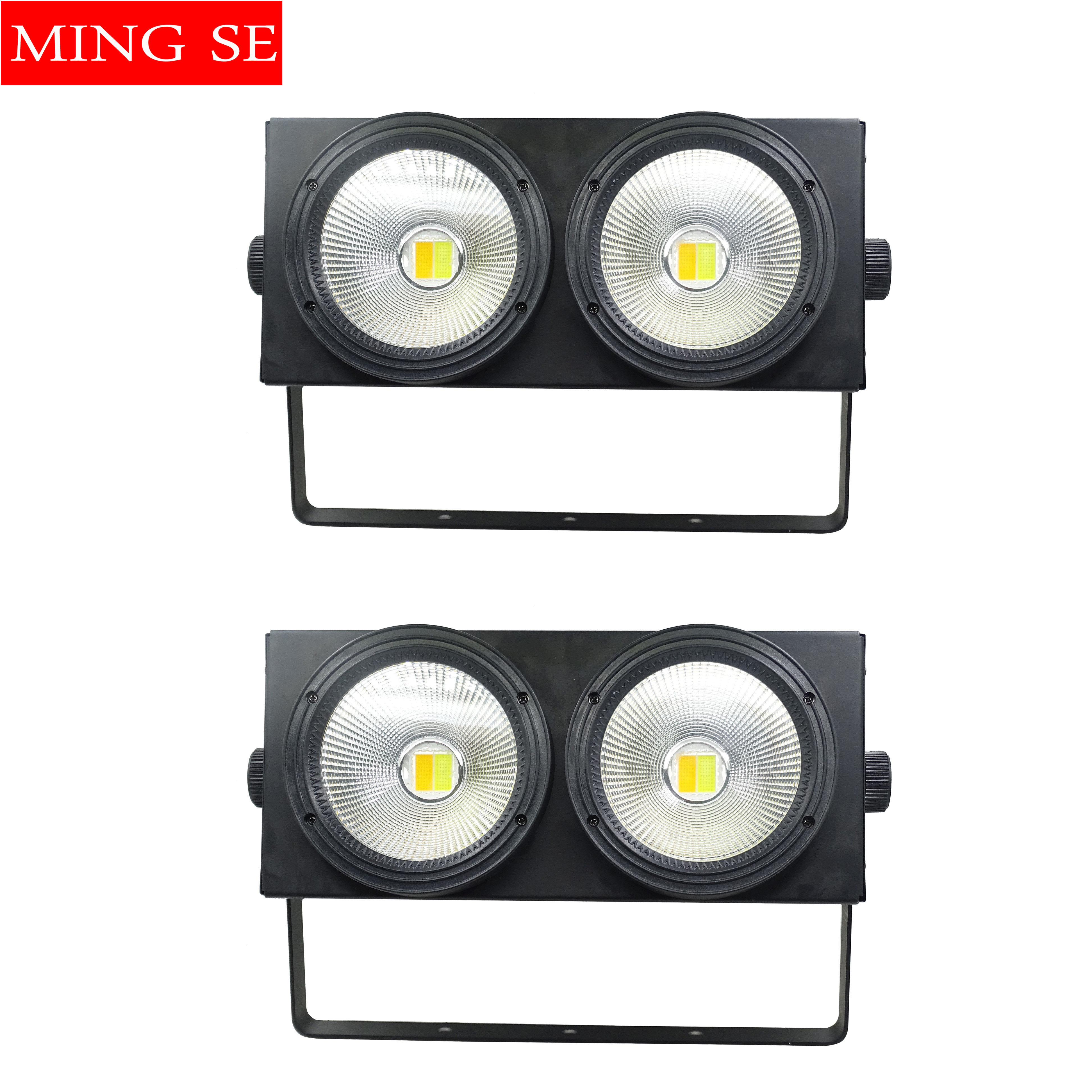 2pcs/lots 2 Eyes LED COB Blinder Light Cold White/Warm White 2in1 COB LEDs Control Optional Individually 2x100W Audience Light
