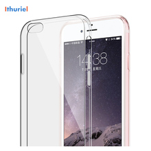 ithuriel For iPhone 6s Cases Crystal Clear TPU Corner Protection Bumper Case for iPhone 4 4s 5 5c 5s SE 7 7 plus cover protective tpu plastic bumper frame for iphone 4 4s black transparent white