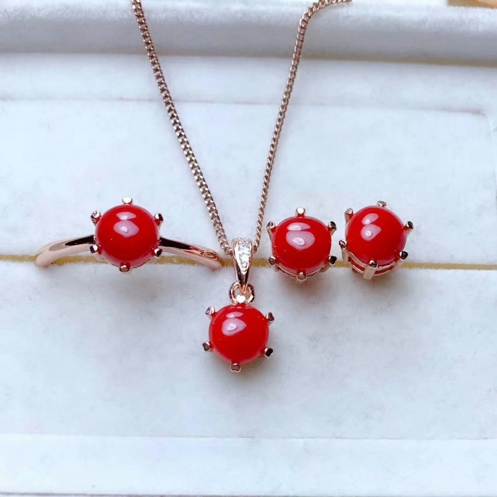 shilovem 925 sterling silver real Natural red coral pendants rings earrings women plant party send necklace gift mtzj0606ze0606shilovem 925 sterling silver real Natural red coral pendants rings earrings women plant party send necklace gift mtzj0606ze0606