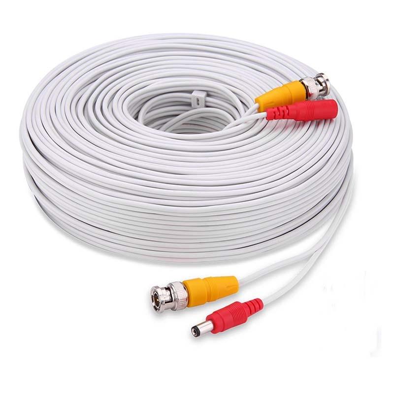 5M 10M 20M 30M 40M 50M CCTV accessory BNC Video Power White Cable Analog AHD CCTV Surveillance Camera DVR Kit Surveillance 40m cctv camera cable