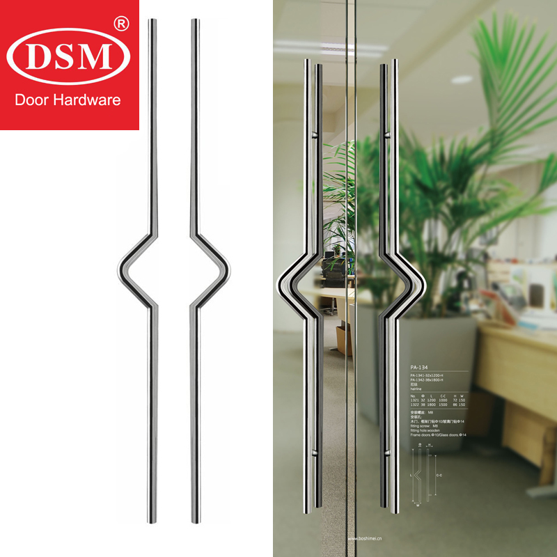 Entrance Door Pull Handle Made With High Grade Stainless Steel For Timber/glass/Metal Doors PA 134 38*1800mm|door pull handle|entrance door|entrance door handle - title=