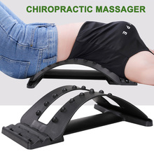 2019 Magic Back Stretcher Lumbar Support Posture Corrector Massage for Upper Lower Pain Relief DC88
