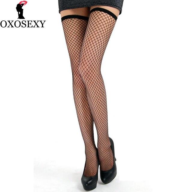 Long Hollow Mesh Stockings Black Fishnet Stockings Stocking For Women Sexy Knee Socks Hot Hosiery Female Thin High Stockings 464