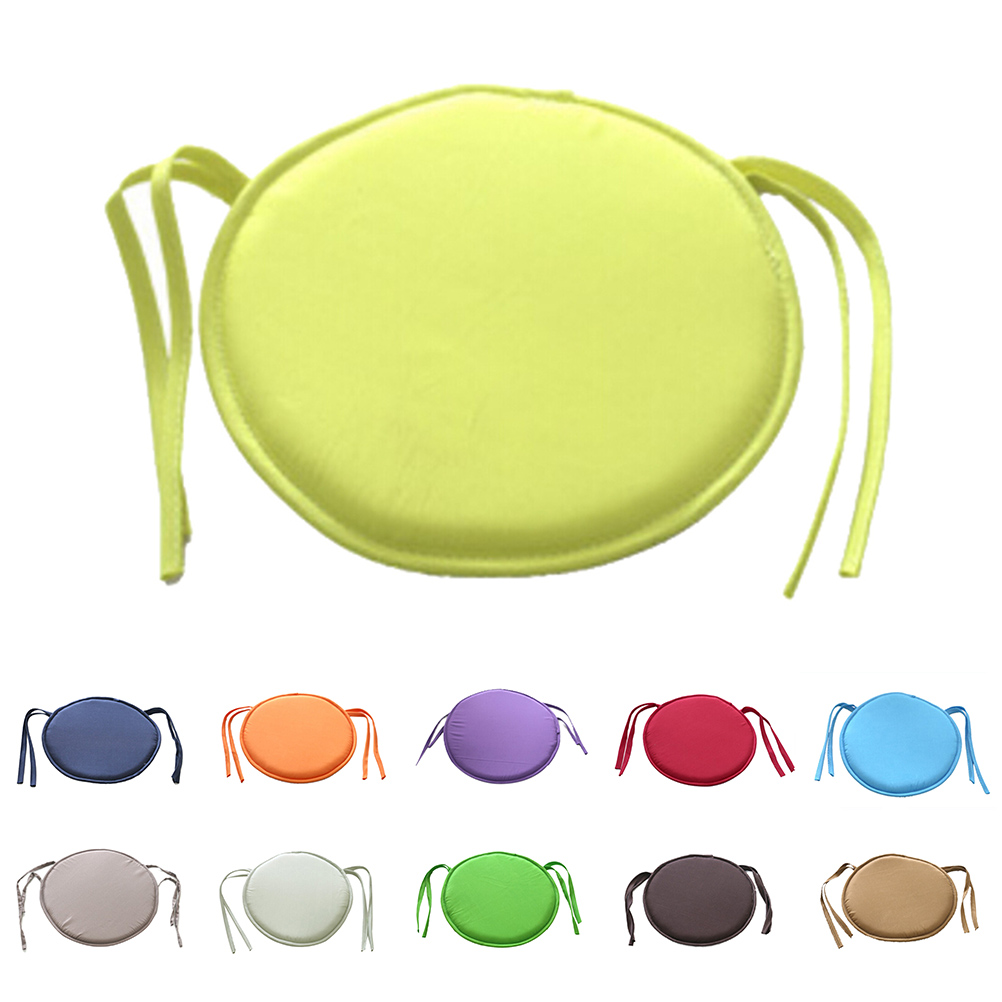 Hot Sale Round Chair Cushion Indoor Pop Patio Office Chair Seat Pad Tie On Square Garden Kitchen Dining Cushion