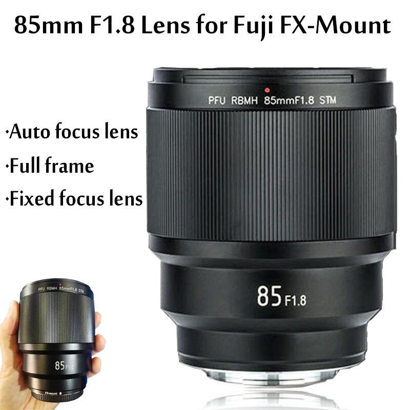 (Venda antecipada) 85mm f/1.8 Lentes para Fujifilm COMO ED F1.8 UMC Lente Grande Angular Foco Fixo Lente para Câmera fujifilm FX F1.8-Montagem Da Lente