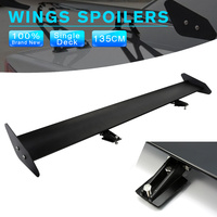 Universal 43 Adjustable Light Weight Aluminum Car Hatchback Rear GT Wing Spoiler Racing Black Wholesale D10