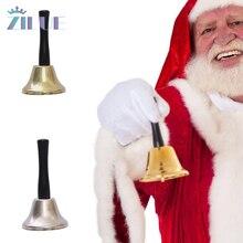 Zilue 1 шт./партия Рождественский Декор маленький колокольчик Рождественский домашний деко для детей игрушки Железный Рождественский маленький колокол игрушки