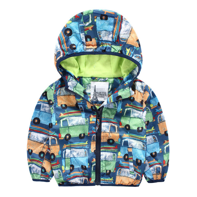 126bf45e7 New arrival boys jacket bus printed pattern kids autumn winter ...