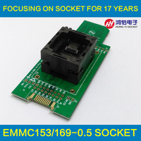 EMMC Test Socket To SD EMMC Adapter For Nand Flash Testing For BGA 169 And BGA