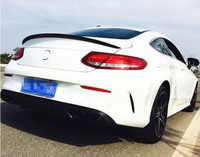 For benz W205 C class coupe Spoiler 2 doors ABS plastic Material Car Rear Wing Color Rear Spoiler 2015 2018 Spoiler
