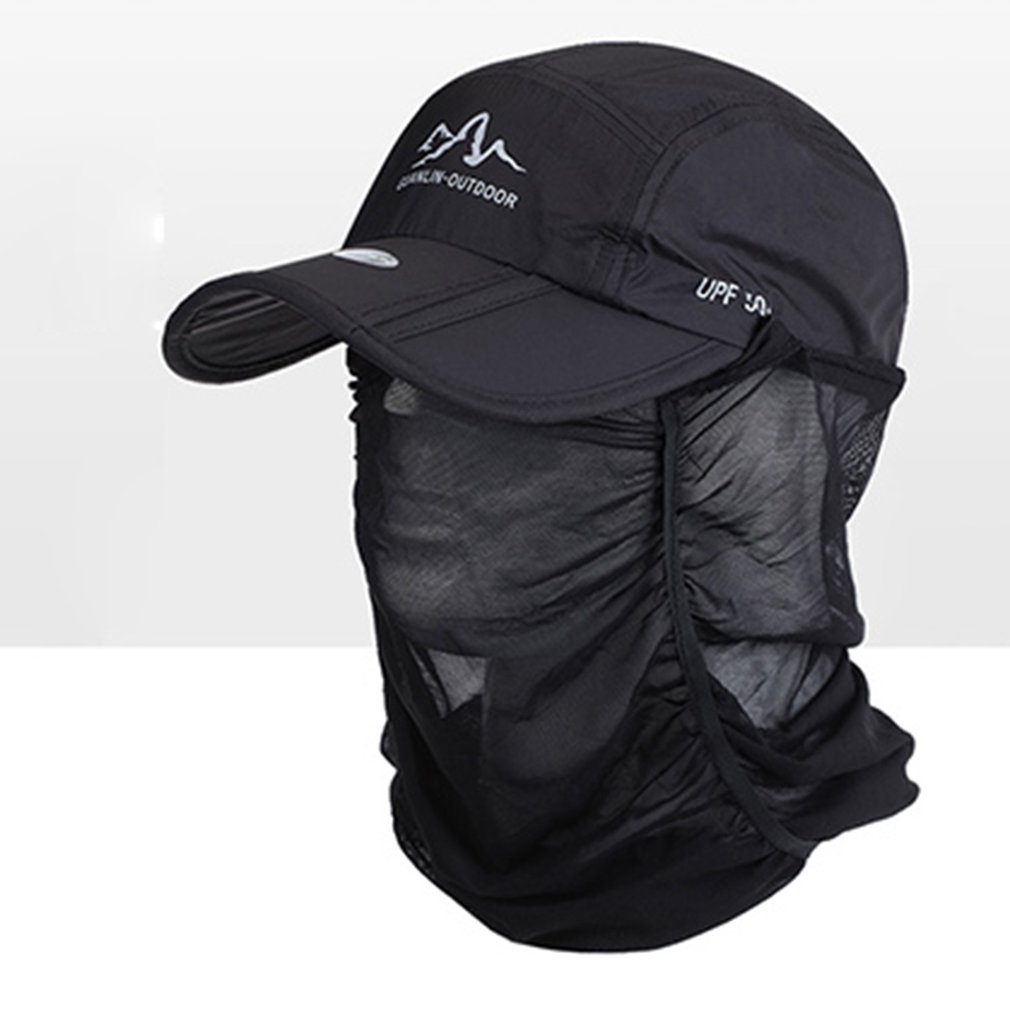 Quick-drying 1pc Outdoor Sports Hiking Visor Hat UV Protection Face Neck Cover Fishing Sun Protect Cap Outdoor Protective Hat