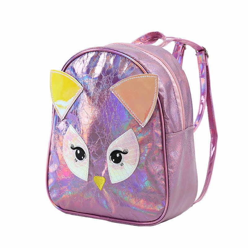 Miyahouse мультфильм сова дизайн школьная сумка для подростков девочек PU кожаный женский рюкзак для путешествий маленький размер женский Mochila с ушками