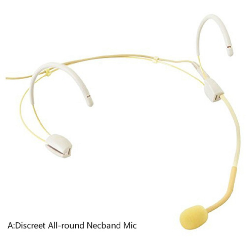 Headset Microphone Mic Discreet All-round Necband / Discreet Small Neckband Microphone Mic Compatible With Most Laptop Mic Input
