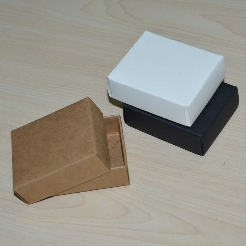 Kraft Small Gift Boxes Lid Black White Paper Box With Cover Cake Box Small Boxes For Gifts Food Packaging Cardboard