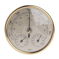 3 In 1 Wall Mounted Household Barometer Thermometer Hygrometer Weather Station Hanging