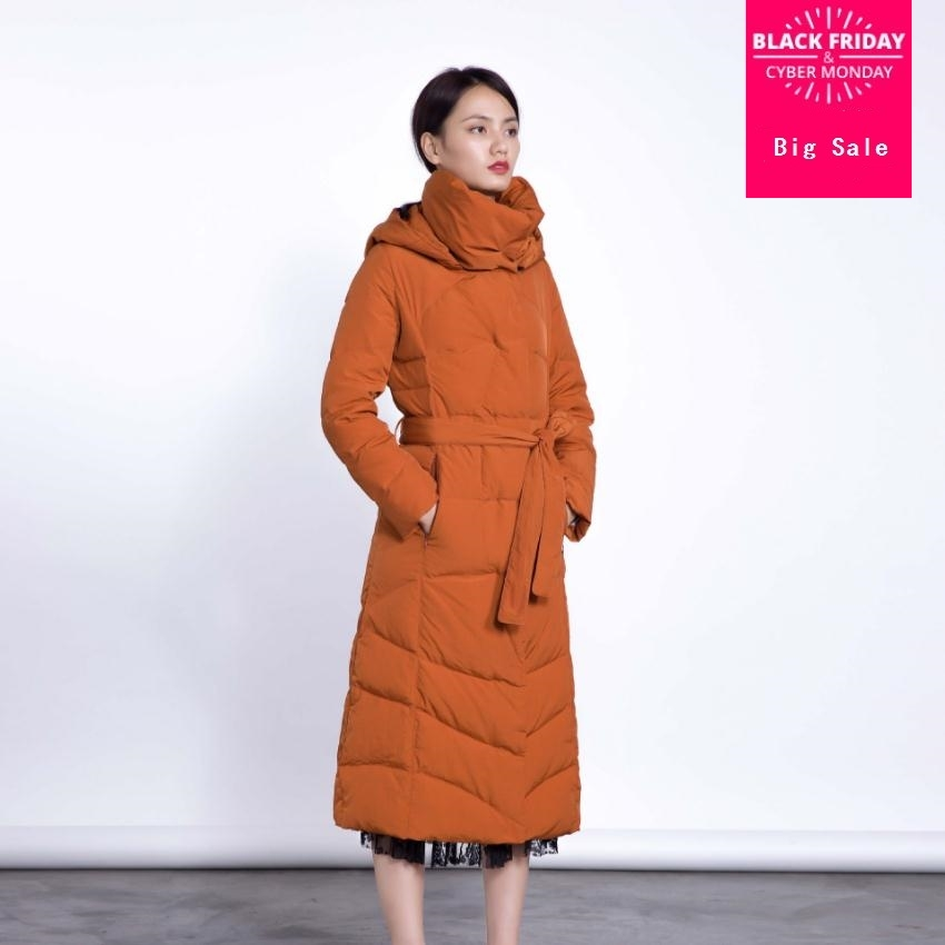 Winter fashion brand good quality X-long over the knee 90% duck   down     coat   female hooded warm   down   parkas wq138 dropship
