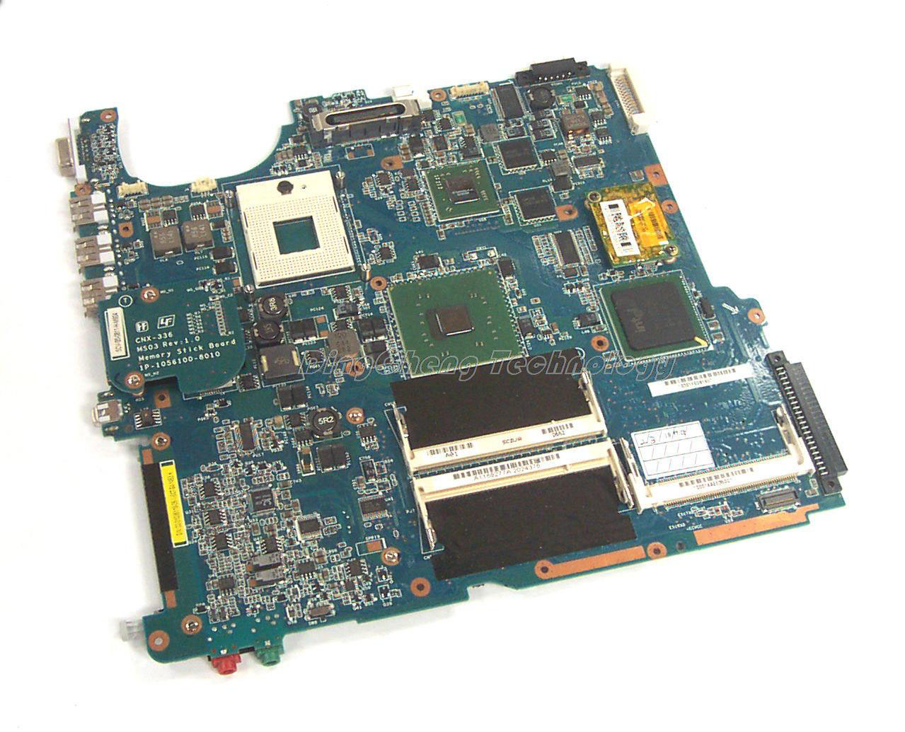 SHELI MBX 143 laptop Motherboard For Sony MBX-143 MS04-M/B A1168157A 1P-0058100-8012 non-integrated graphics card motherboard for sony mbx 209 m922 mb mp 1p 0104j00 8012 100