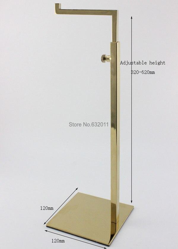 Adjustable Metal Gold Polished Handbag Stand <font><b>Display</b></font> Women Bag <font><b>Display</b></font> Holder bag holder rack