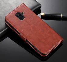 For Samsung Galaxy A6 Plus 2018 Case Flip Luxury Leather Phone Case For Samsung Galaxy A6 2018 A600F A600 SM-A600F A 6 2018 Case цена и фото