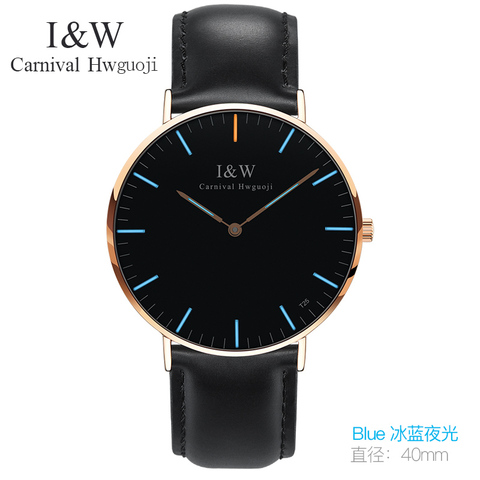 Marca de Luxo Cronógrafo de Quartzo de Couro Relógio de Pulso Homens Relógios Carnical Simples Moda Relógio Masculino 2020 Top