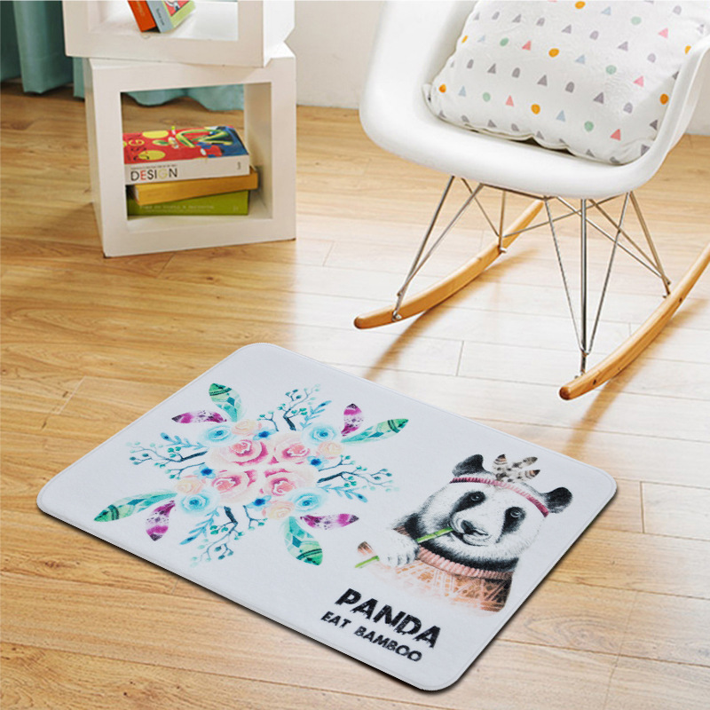 Panda Print Carpets for Living Room Cartoon Soft Rug Baby Room Cute Game Crawl Rugs Kids Bedroom Computer Chair Floor Mat Carpet