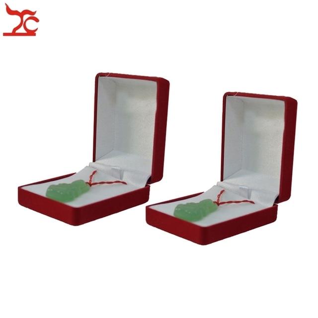 Treachi Wholesale 48Pcs Fashion Red Velvet Pendant Jewelry Gift Box