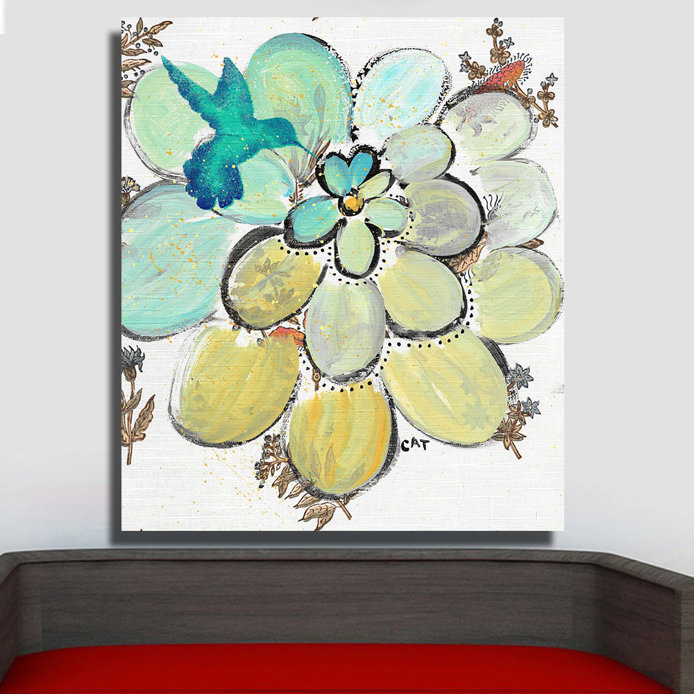Aliexpress.com : Buy QKART Wall Decor Artwork Painting White Flower ...