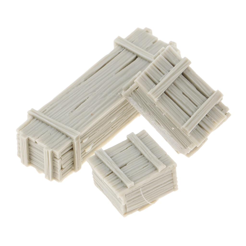 1//35 Resin Unpainted Weapon Boxes /& Ammunition Crates Accessory Set 6 Case