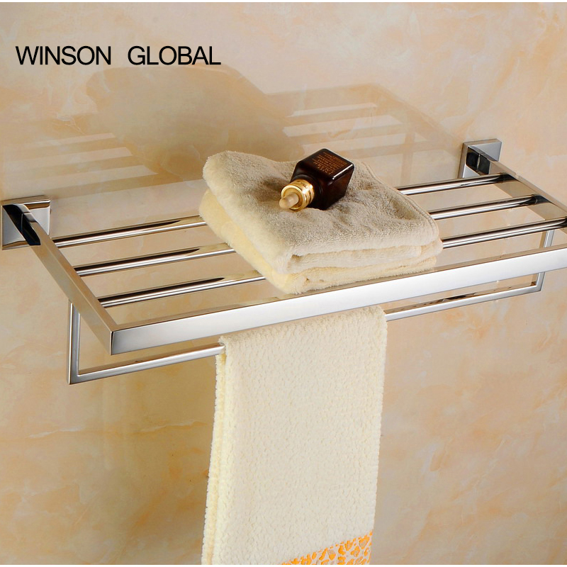 304 stainless steel mirror towel rack double towel racks bathroom pendant accessories Factory direct ICD60043