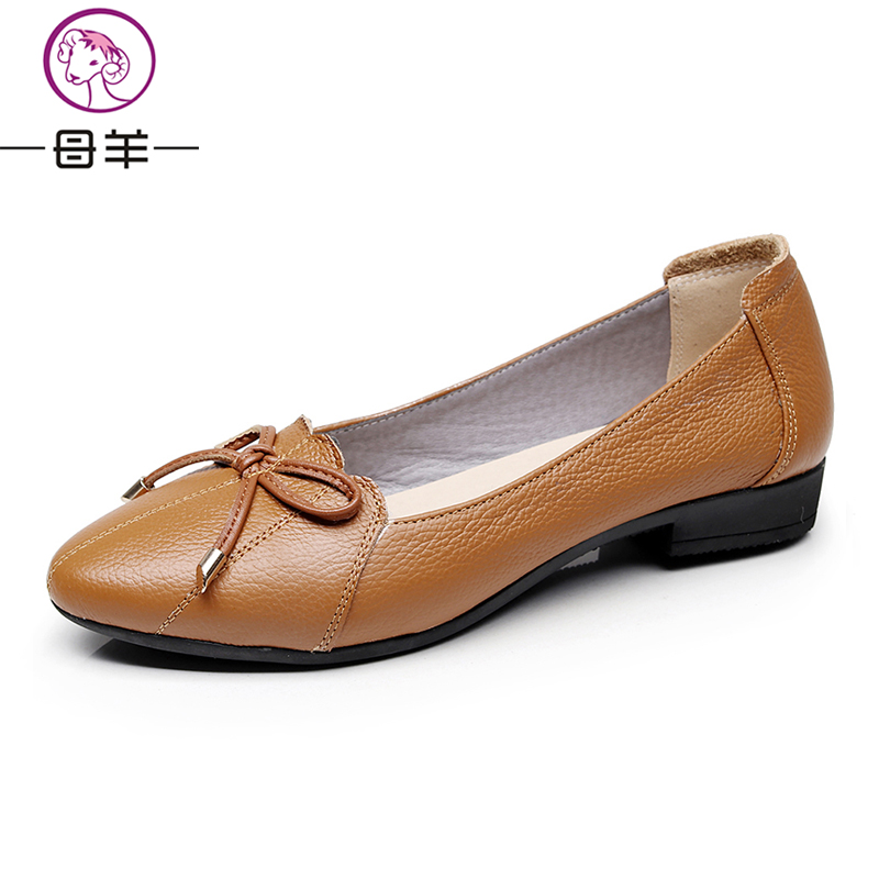 MUYANG Plus Größe 35-43 Echtes Leder Frauen Schuhe Frau Wohnungen - Damenschuhe - Foto 4
