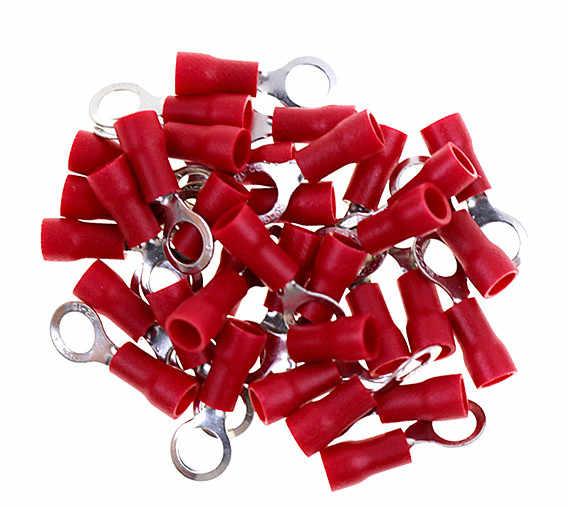 RV1.25-5 rojo aislado de crimpado de anillo conector de cable de terminal 100 unids/pack RV1.25-5 RV