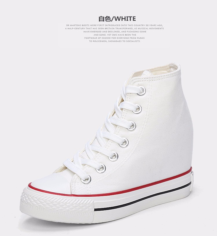 KUYUPP High Top Canvas Women Shoes Espadrilles Spring Autumn Womens Wedges Shoes Lace Up Casual Shoes For Female Sapatilha YD120 (32)