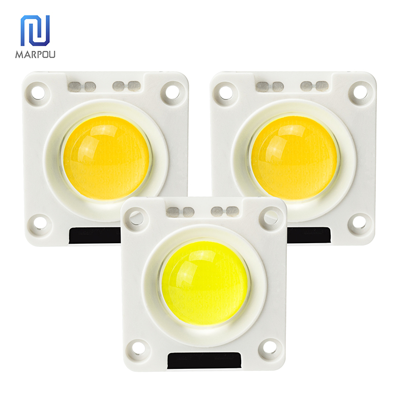 LED Anti-surge COB Chip Fixer Ceramic Plate Silicone AC220V 50W 30W 20W Lamp Beads For DIY Floodlight Spotlight Outdoor Lighting