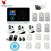 Yobang Security Wireless Home Security GSM Alarm System WIFI IP Camera 2.4 inch Screen APP Remote Control with Automatic Alert
