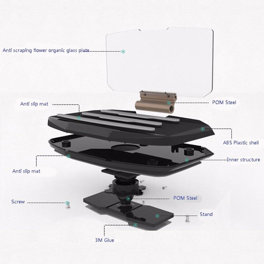 Universal Car Windscreen Projector HUD Head Up Display Soporte para - Accesorios y repuestos para celulares - foto 6