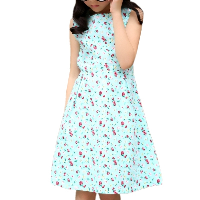 Ajay flower Girls Dress 2018 New Spring Summer Baby Girls Dress Vestidos  Pattern Pring Design Sleeveless Girls Clothes dresses d63c52887769