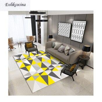 Alfombra Para dormitorio con triángulos grandes Alfombra Para el suelo, Para Sala...