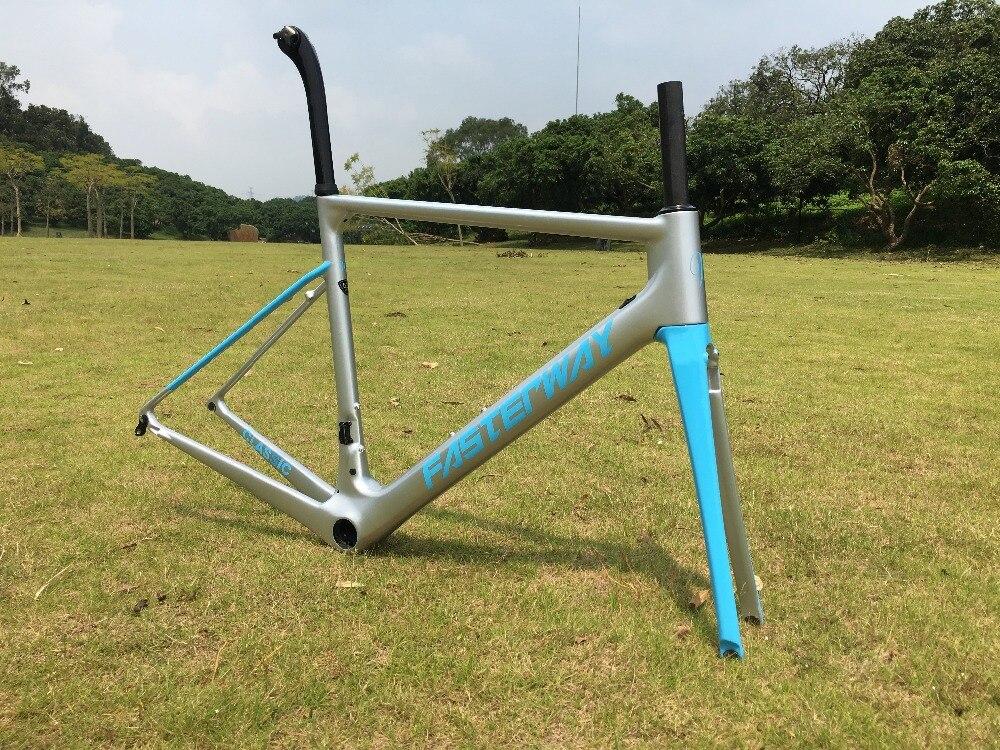 Délai de livraison rapide! pu technologie nouvelle couleur montage direct de frein bleu ruban mat ou brillant finition vélo route de cadre en carbone, expédition libre de SME