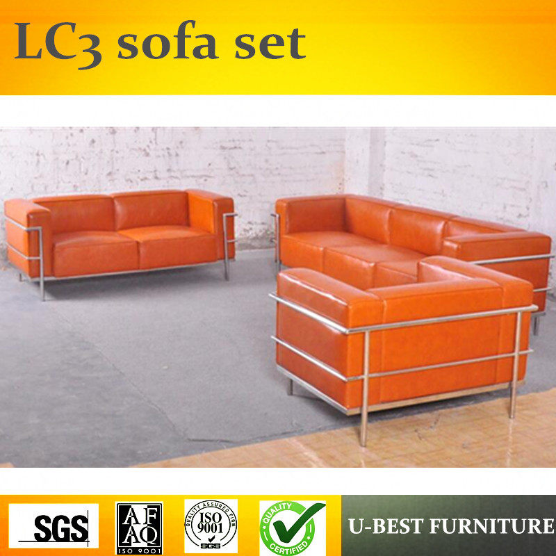 Le Corbusier Sofa Replica Custom Houston Texas U Best Metal Frame Style Lc3 123 Set Grande Leather