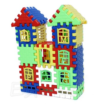 Baby Kids Children House Building Blocks Educational Learning Construction Developmental Toy Set Brain Game Set