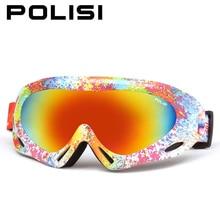 Polisi invierno kids ski snowboard gafas niños niños niñas gafas uv400 anti-vaho moto de nieve esqui gafas de nieve al aire libre