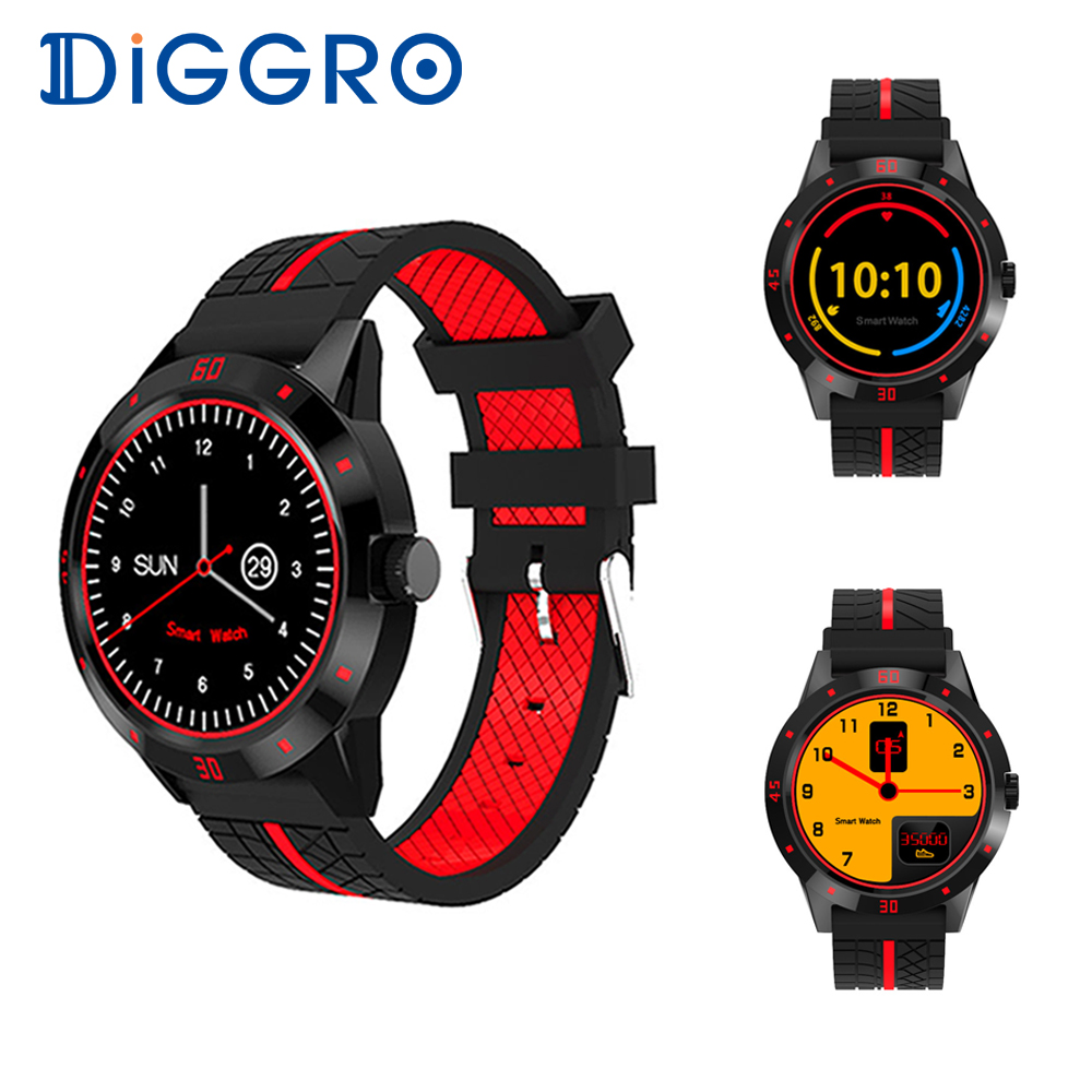DIGGRO DI02 Smart Watch Bluetooth Phone Remote Camera Smart watches Heart rate fitness tracker Smartwatch For Ios Android Phone