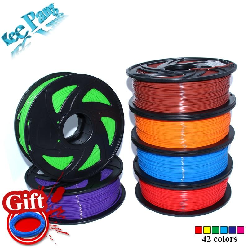 PLA 1.75mm Filamento 1KG Materiais para imprimir Colorido Para 3D Impresora Extrusora Pluma Rainbow Accesorios Plásticos Negro Branco Red Red