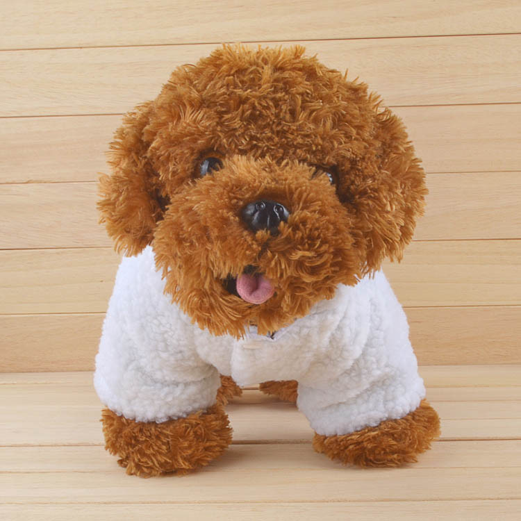 Fashion Pet Costume Samll Dog Clothes Coat White Sheep Puppy Hoodie Chihuahua Clothing In Winter Warm Apparel Size XS S M L XL 1162
